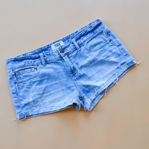PINK Victoria's Secret Distressed Roll Up Shorts